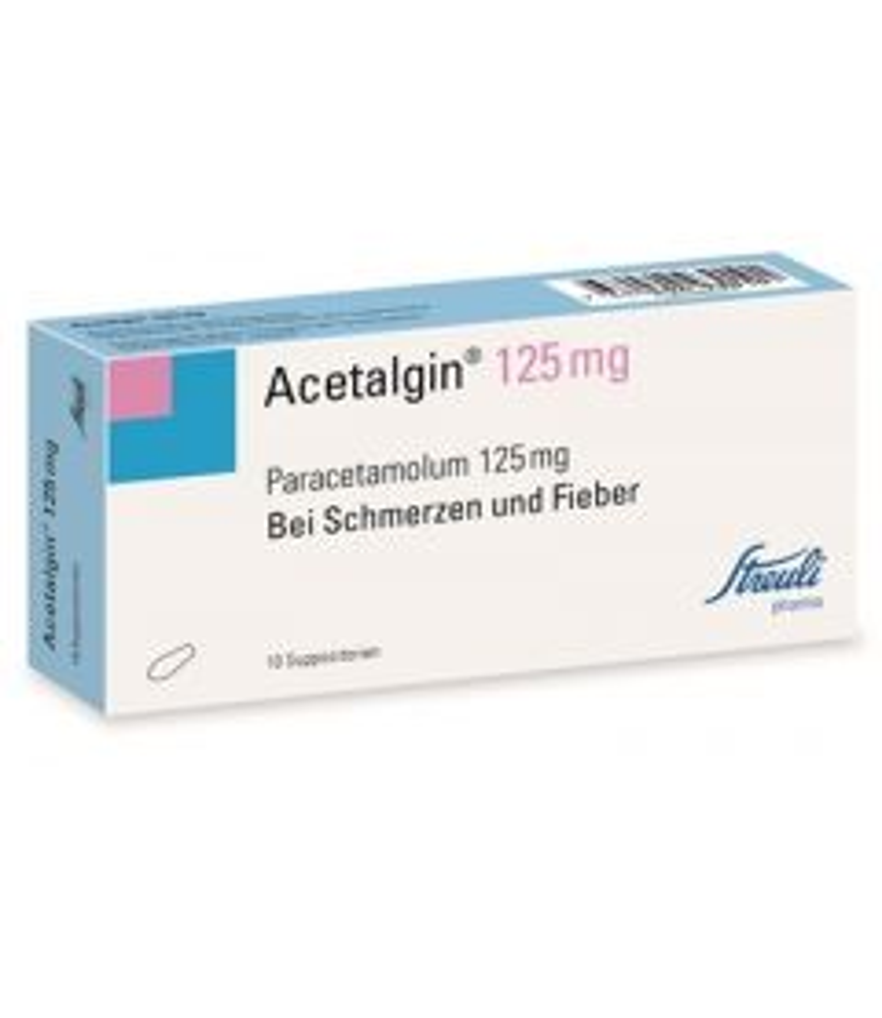 ACETALGIN Supp 125 mg 10 Stk