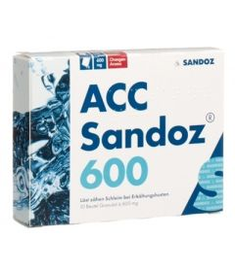 ACC Sandoz Gran 600 mg Orangenaroma 10 Stk