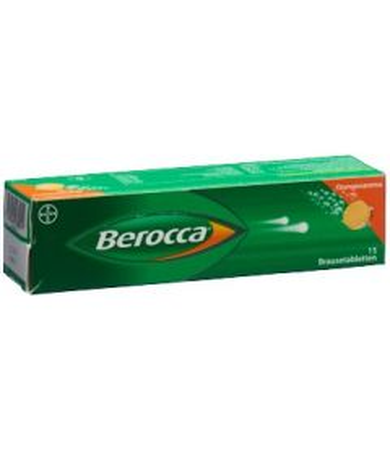 BEROCCA Brausetabl Orangenaroma 15 Stk