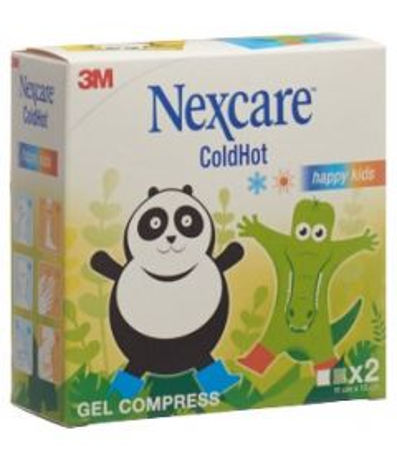 3M NEXCARE ColdHot 12x11cm Happy Kids 2 Stk